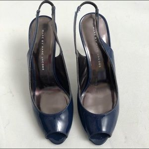 Marc by Marc Jacobs navy patent leather heels 6.5
